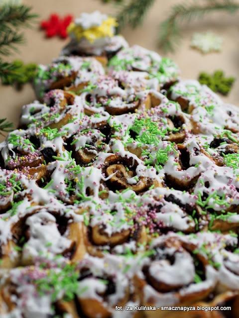buleczki do odrywania, ciasto drozdzowe, nadzienie makowe, strucla z makiem i powidlami, wypieki swiateczne, swieta bozegonarodzenia, ciasta na swieta