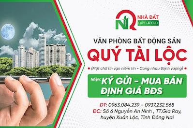 Ký gửi BĐS tại xã Suối Cao huyện Xuân Lộc