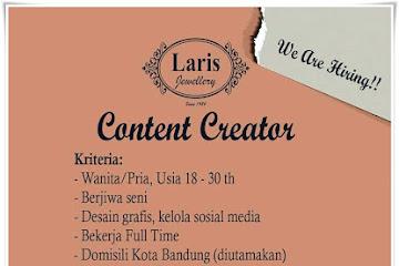 Lowongan Kerja Content Creator Laris Jewellery