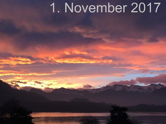 Sonnenaufgang und Wolkenspiel