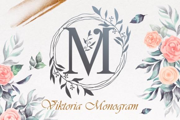 Viktoria Monogram Font