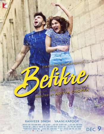 Poster Of Befikre 2016 Hindi 720p Pre-  Watch Online Free Download world4ufree.org