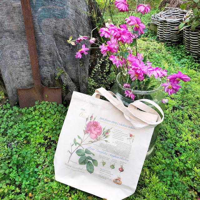 soft pink rose canvas tote bag regular in your garden.