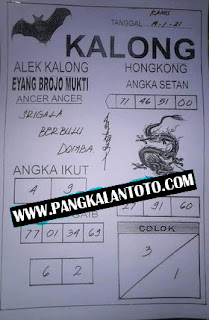 Syair HK Kalong Brojo Mukti