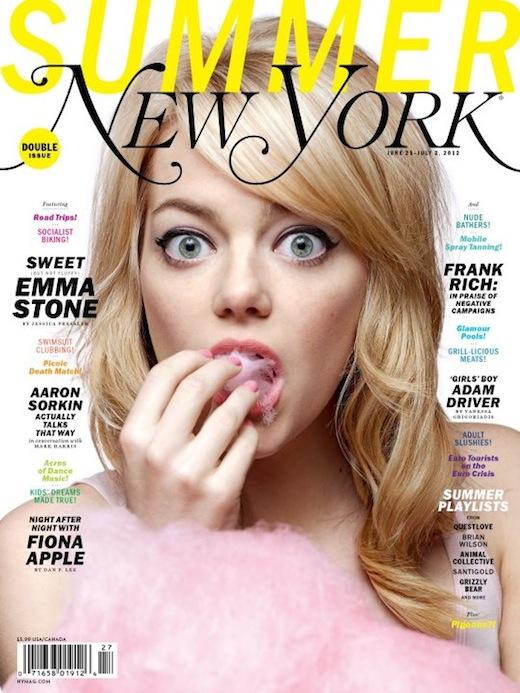 Emma Stone New York Magazine Cotton Candy