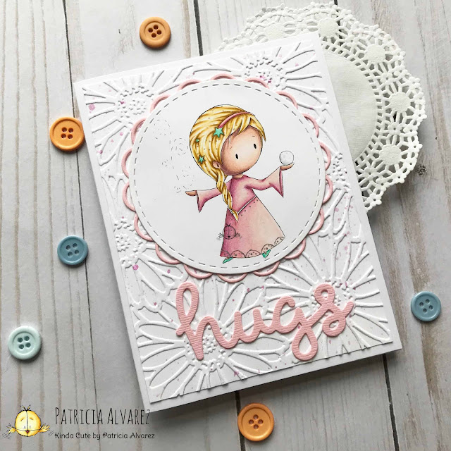 Love card using a snow princess digital stamp