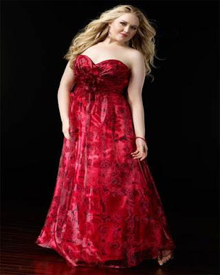 vestido rojo elegante gordita