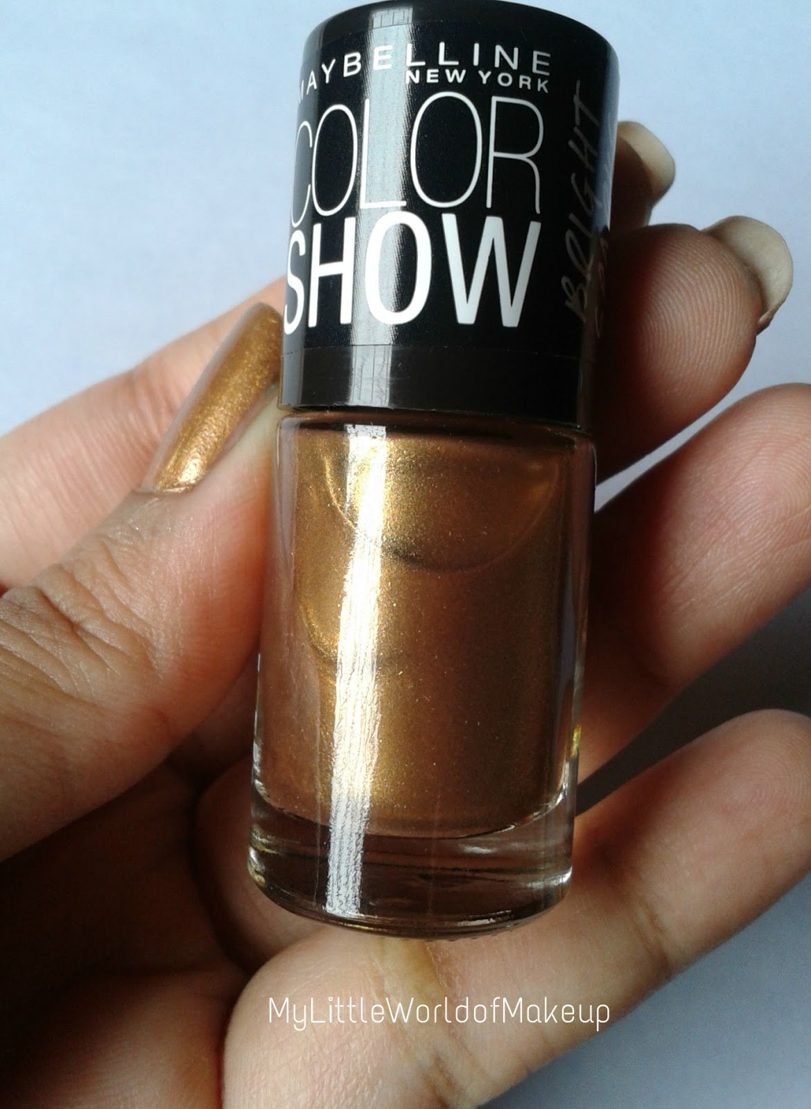 Maybelline Color Show Bright Sparks Nail Paint in Burnished Gold Review