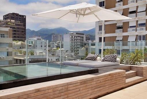 Piscinas en terrazas colores en casa for Terrazas para piscinas elevadas