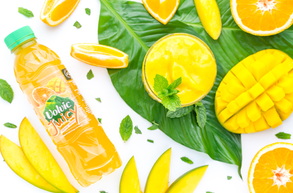 Frozen Mango & Mint Mocktail mit Volvic