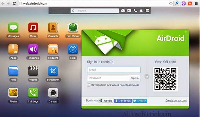 transfer files with Airdroid