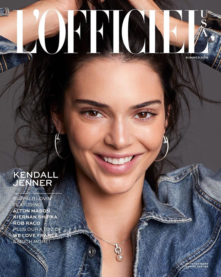 Kendall Jenner covers L'Officiel USA Summer 2019