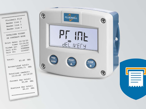 Fluidwell F119 Flow Indicator with Printer