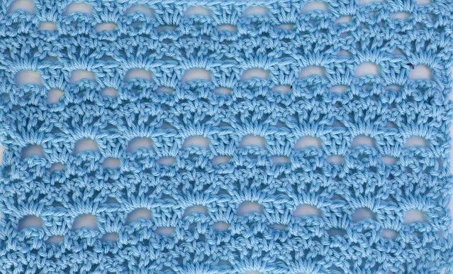 6 -Crochet Imagenes Puntada de abanicos y cadenas a crochet y ganchillo por Majovel Crochet