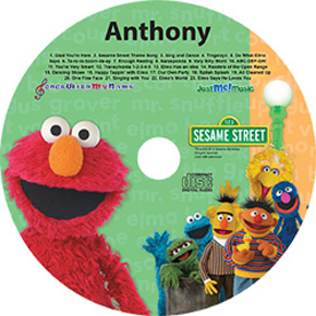 CD label for kids Elmo personalized CD