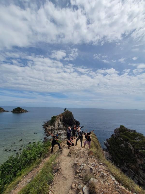 Hiking at Bukit Singa, Kapas Island.