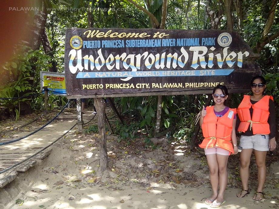 Puerto Princesa Underground River welcome sign