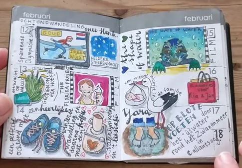 daily drawing diary 2018