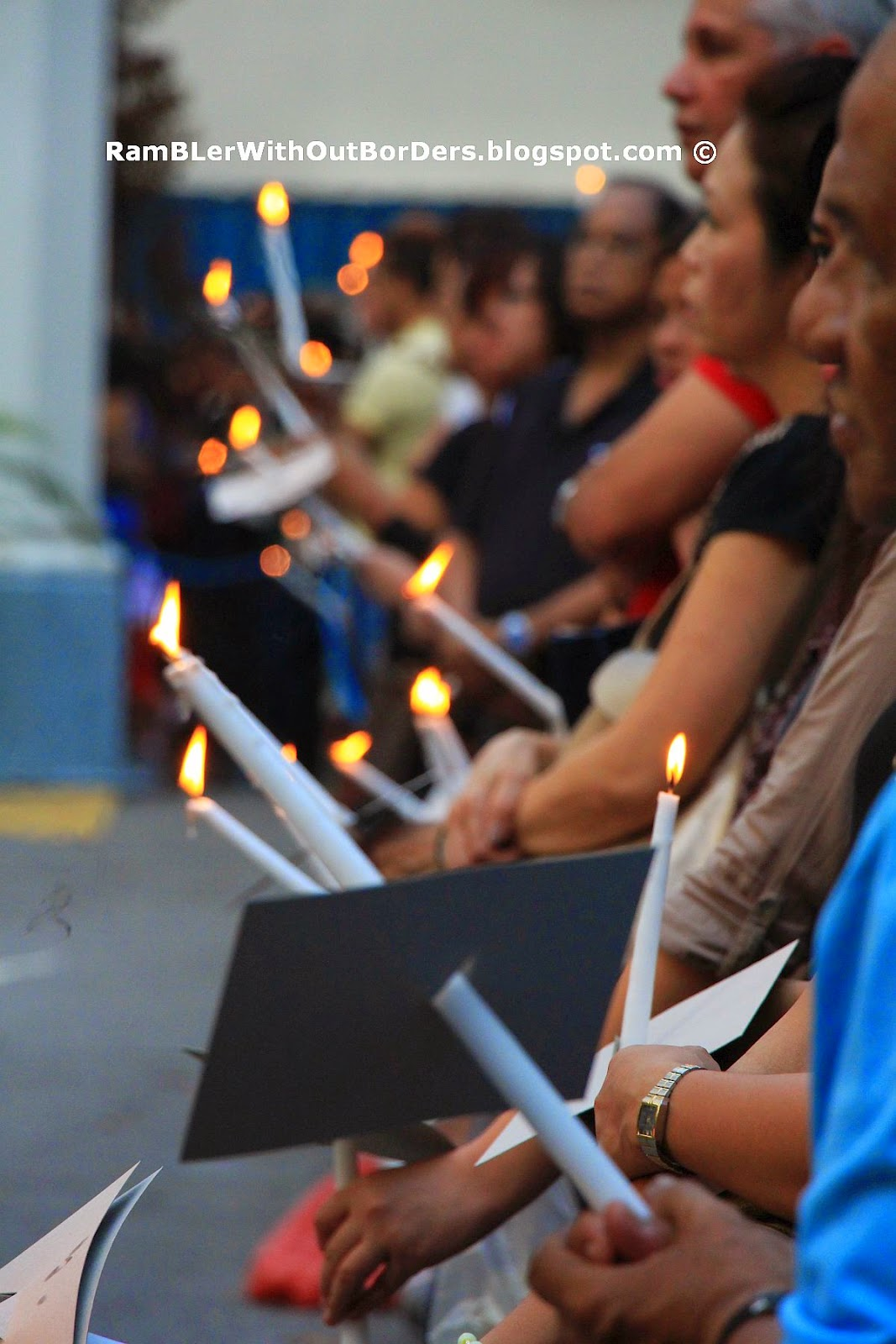 Attendants of Good Friday Candle-Light Procession, St Joseph's Church, Victoria St, Singapore