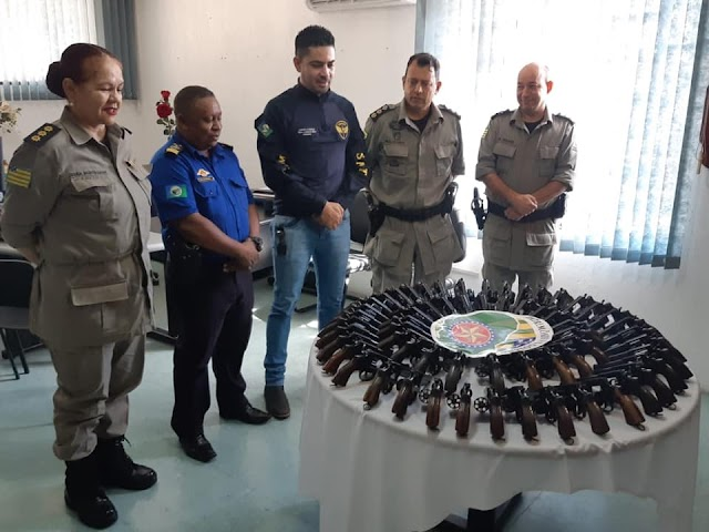 Senador Canedo: Guarda Municipal recebe novas armas