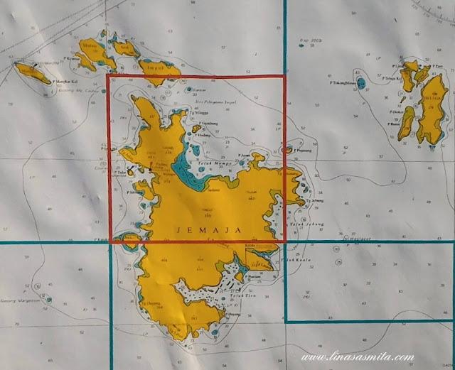 Peta Pulau Jemaja, Anambas Kepri