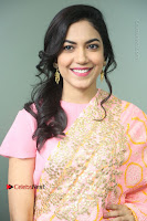 Actress Ritu Varma Pos in Beautiful Pink Anarkali Dress at at Keshava Movie Interview .COM 0144.JPG