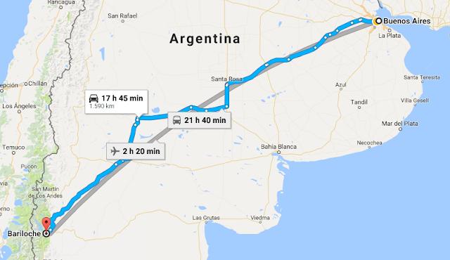 Como ir de Buenos Aires para Bariloche