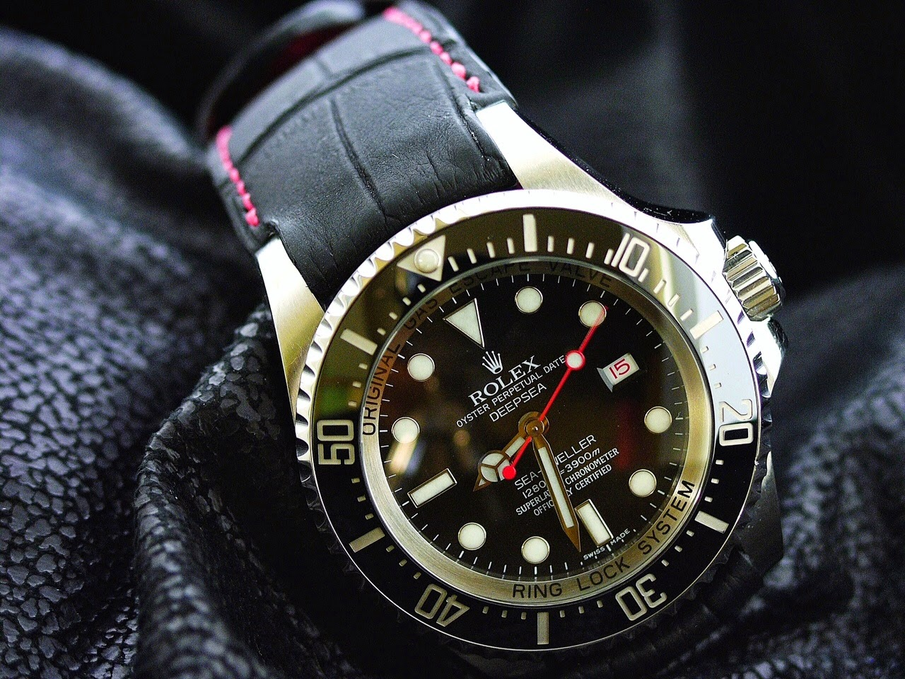 Wen's Custom Rolex Deep Sea on SuperMatte Alligator strap with Fully Integrated Fit (FIF)