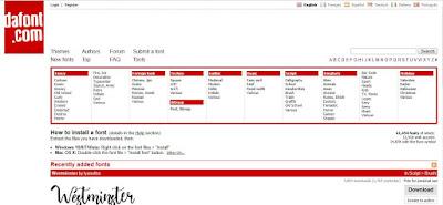 Situs Tempat Download Font Gratis