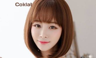 Kilau rambut nuansa coklat