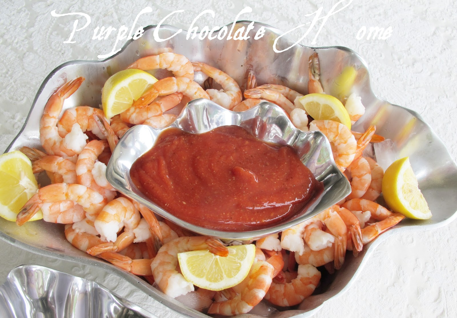 Colossal Shrimp and Cocktail Sauce - Purple Chocolat Home