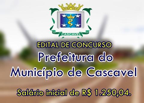 Apostila concurso Município de Cascavel 2017 para o cargo AGENTE DE APOIO.