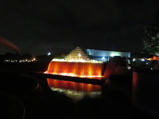 Imagination Epcot Night Waterfall