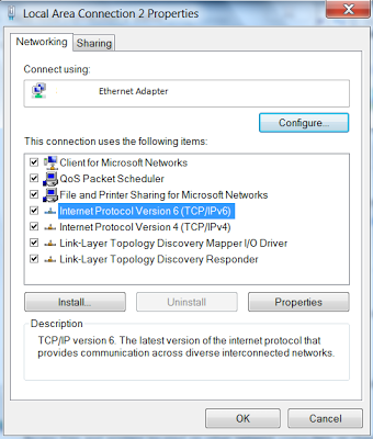 Steps to uninstall TCP/IP