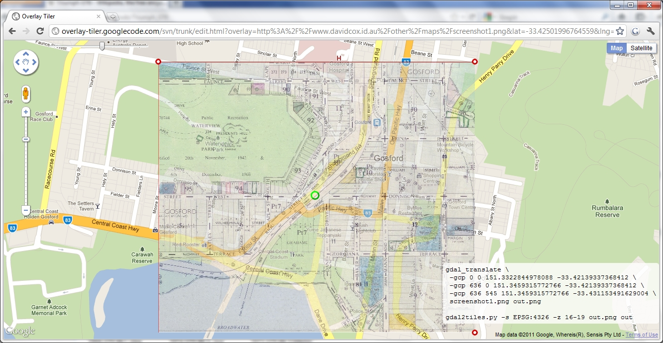 Coxys' Blog: Google Maps - Image Overlay Tutorial on i am google, ask google, people google, china google, falling google,