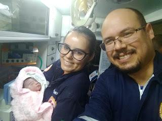 Numa ação exitosa, equipe do SAMU Picuí realiza parto dentro de ambulância