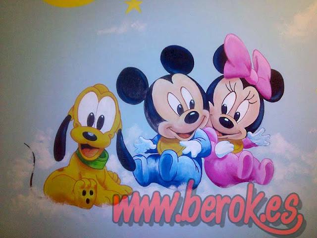 Murales infantiles Barcelona Disney