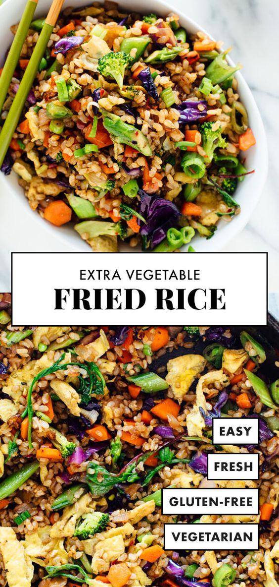 Extra Vegetable Fried Rice #healthyrecipeseasy #healthyrecipesdinnercleaneating #healthyrecipesdinner #healthyrecipesforpickyeaters #healthyrecipesvegetarian #HealthyRecipes #HealthyRecipes #recipehealthy #HealthyRecipes #HealthyRecipes&Tips #HealthyRecipesGroup  #food #foodphotography #foodrecipes #foodpackaging #foodtumblr #FoodLovinFamily #TheFoodTasters #FoodStorageOrganizer #FoodEnvy #FoodandFancies #drinks #drinkphotography #drinkrecipes #drinkpackaging #drinkaesthetic #DrinkCraftBeer #Drinkteaandread #RecipesFood&Drink
