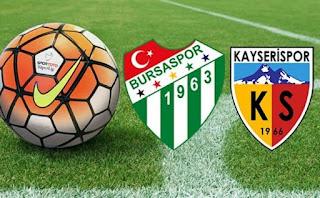 Bursaspor - Kayserispor Canli Maç İzle 02 Mart 2018