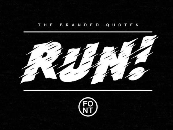 Run Slanted Sans Font