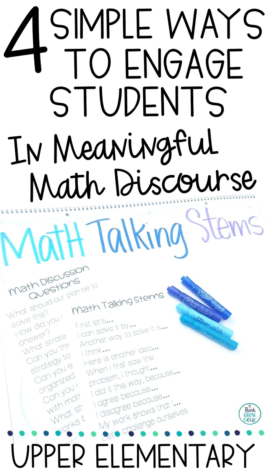 4 Simple Ways to Engage Students in Meaningful Mathematical Discourse -  Think Grow Giggle [ 1600 x 900 Pixel ]