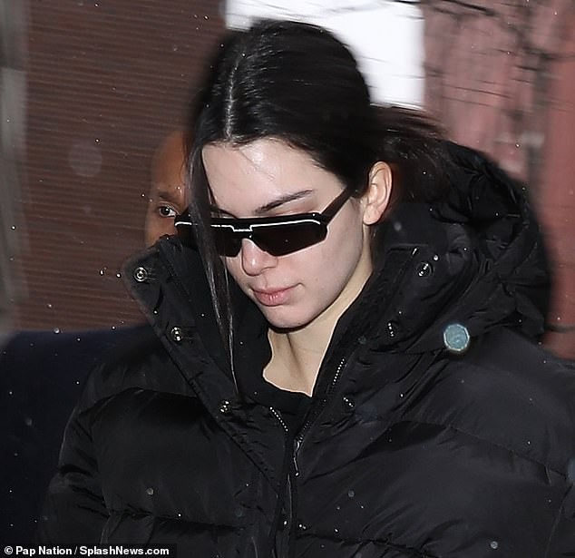 Kendall Jenner out in NY looking stressed during New York Fashion week