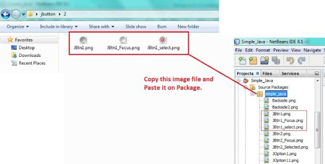 copy files in java package process