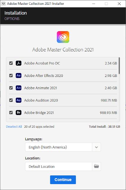 Adobe Master Collection 2021 CC 24.12.2020