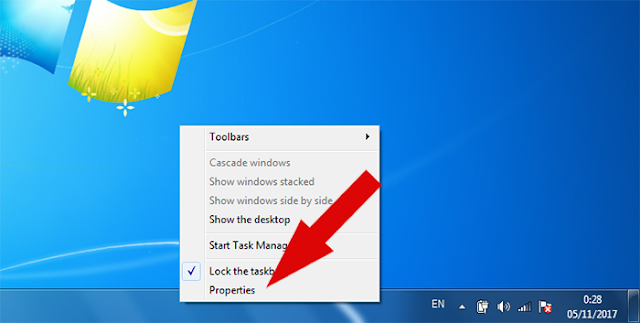 Membuat Taskbar dan Start Menu Auto-hide