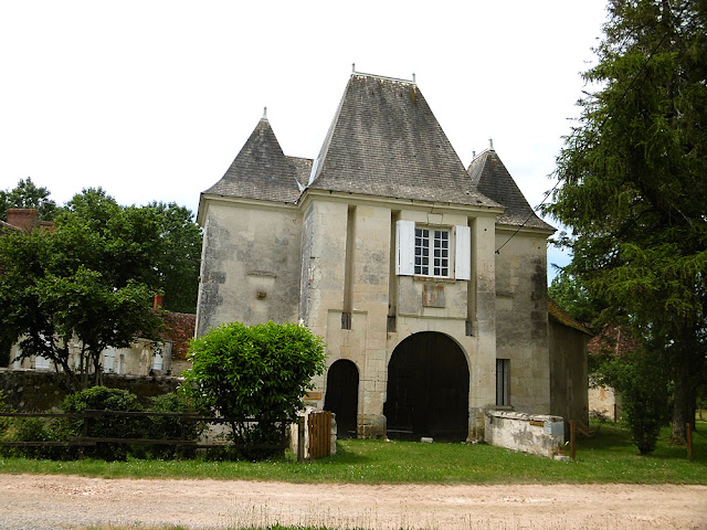 Gatehouse, Manoir de la Girouardiere, Indre. France. Photographed by Susan Walter. Tour the Loire Valley with a classic car and a private guide.