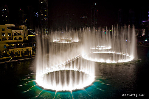 Dubai fountain.