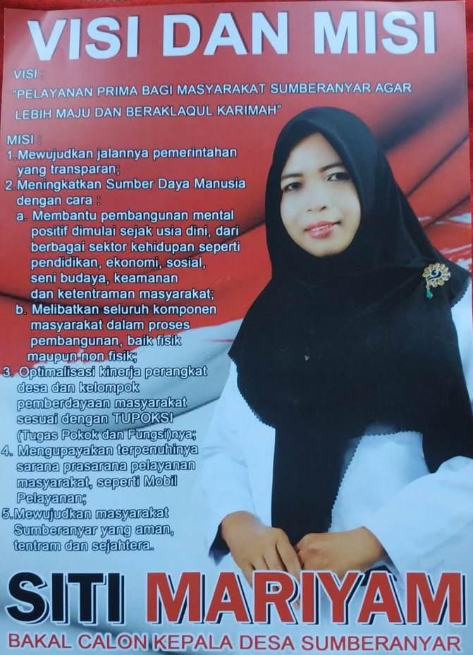 Siti Maryam Bacakades, Pilkades Desa Sumberanyar Kecamatan Wongsorejo Banyuwangi.