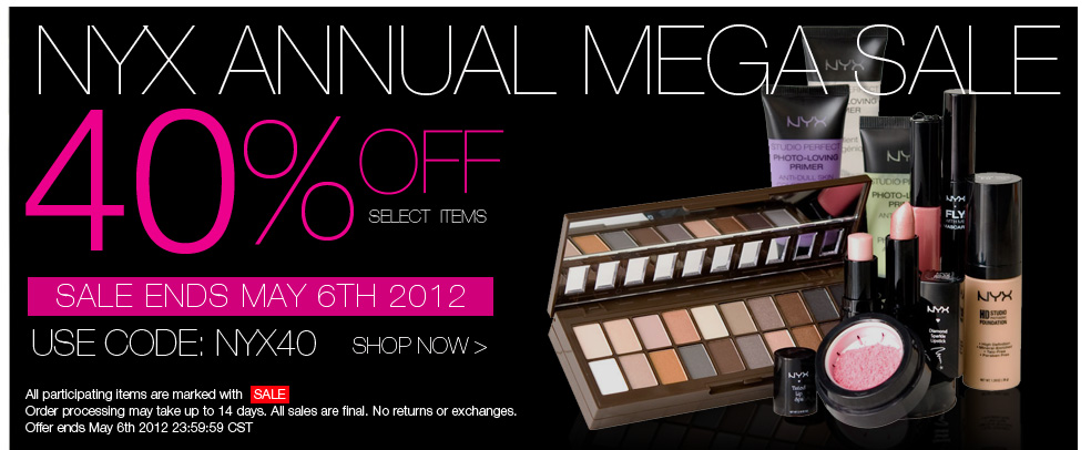 Current Nyx Cosmetics Coupons This page contains a list of all current Nyx Cosmetics coupon codes that have recently been submitted, tweeted, or voted working by the community. Verified Site.