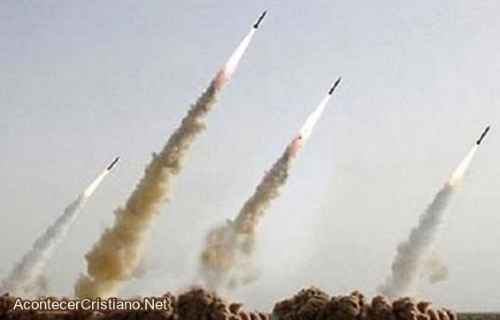 Cohetes de Hamás lanzados a Israel
